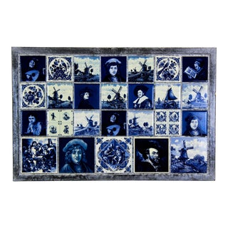 Rembrant Blue Tiled Wall Decor by Delft