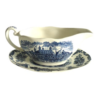 Blue & White Wedgwood Gravy Boat