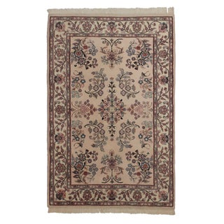"""Hand Knotted Wool Persian Style Rug - 4' X 6' 1"""""""