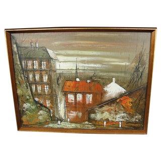 Mid-Century Impressionist Cityscape Painting