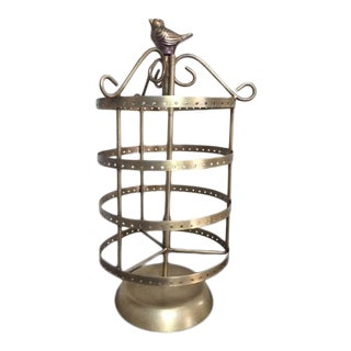 Vintage Brass Rotating Earring Stand