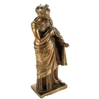19th-C. French Neoclassical Bronze Maiden