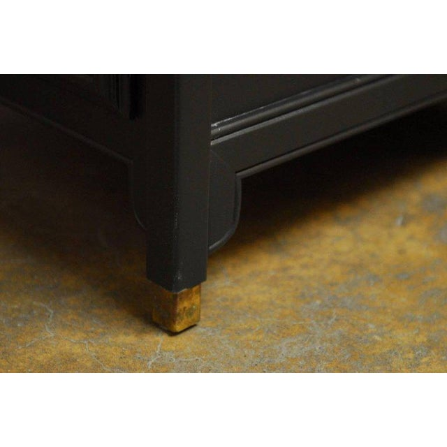 James Mont Style Century Furniture Lacquer Nightstands - a Pair - Image 10 of 10