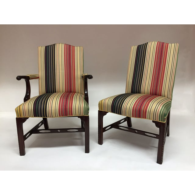 Marlborough Dining Set: Chippendale Upholstered Dining Chairs - Set Of 8