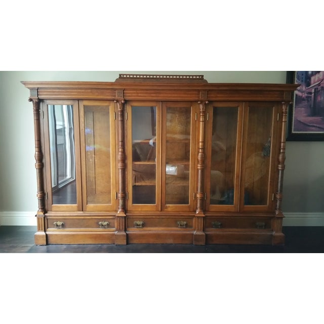 Antique Display Cabinet with Glass Door - Image 2 of 9 - Antique Display Cabinet With Glass Door Chairish
