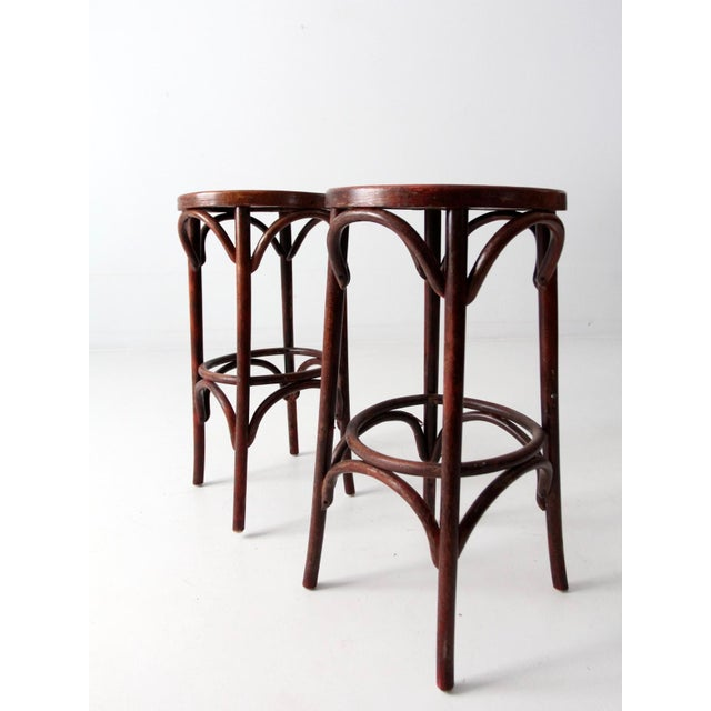 Image of 1950's Bentwood Cafe Stools - A Pair