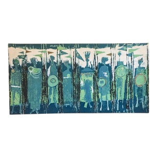 The Age of Kings in Blue Textile Art by Tibor Reich