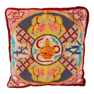 Jonathan Adler Style Needlepoint Accent Pillow