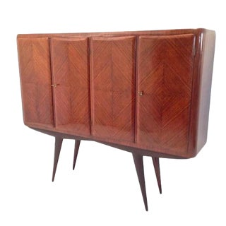 Four-Door Mid-Century Tall Cabinet in Rosewood attributed to Pier Luigi Colli Italy circa 1955
