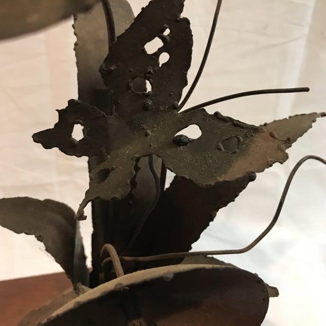 Brutalist Floral Metal Sculpture - Image 7 of 11