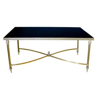 Stylish French Maison Jansen Rectangular Brass Cocktail Table