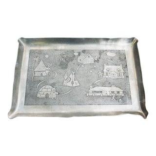 Mid Century Aluminum Tray