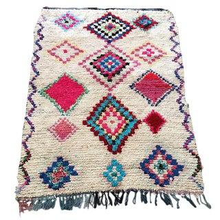 Moroccan Boucherouite Rag Rug - 4′2″ × 6′2″