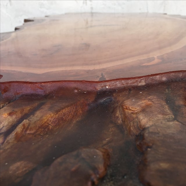 Live Edge Wooden Coffee Table - Image 11 of 11
