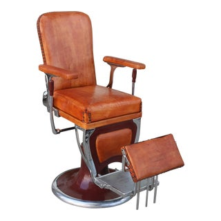 Antique 1930's Barber Leather Chair