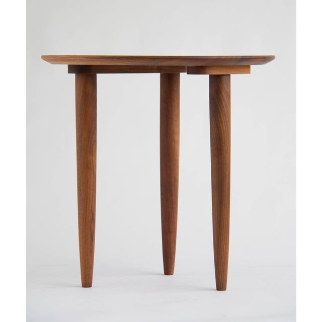 Solid Walnut Round Side Table by Prelude - Image 3 of 6