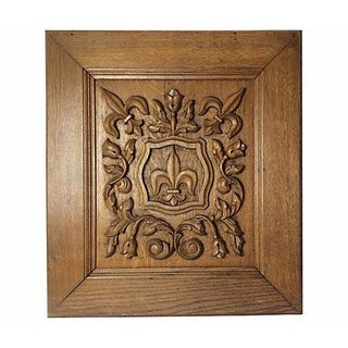 French Carved Fleur-De-Lis Plaque