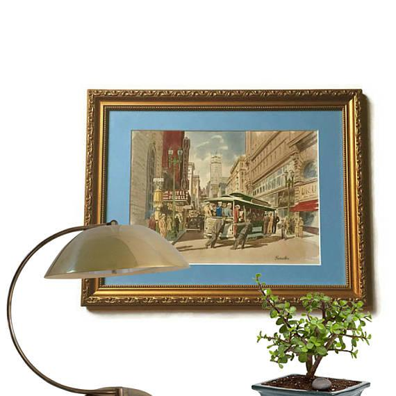 Frank Serratoni San Francisco Cable Car Painting   Image 4 Of 11