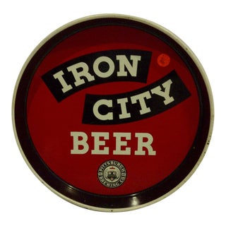 "Vintage Pittsburg ""Iron City Beer"" Beverage Serving Tray"