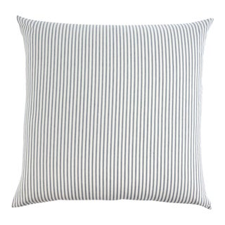 French Ticking Cotton Navy Pillow