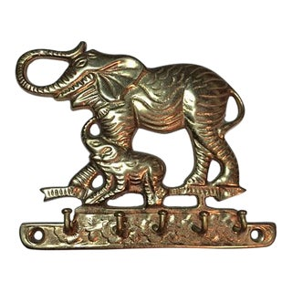 Solid Brass Elephant Key Hook