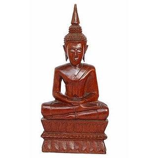Hand-Carved Wood Buddha