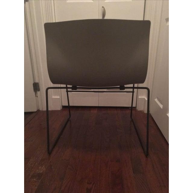 Vignelli Knoll Grey Armless Handkerchief Chair - Image 5 of 8