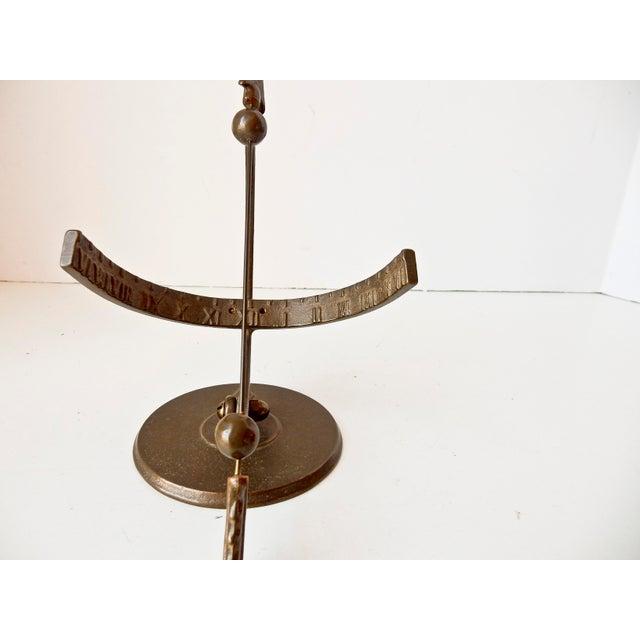 Vintage Bronze Sun Clock - Image 5 of 7