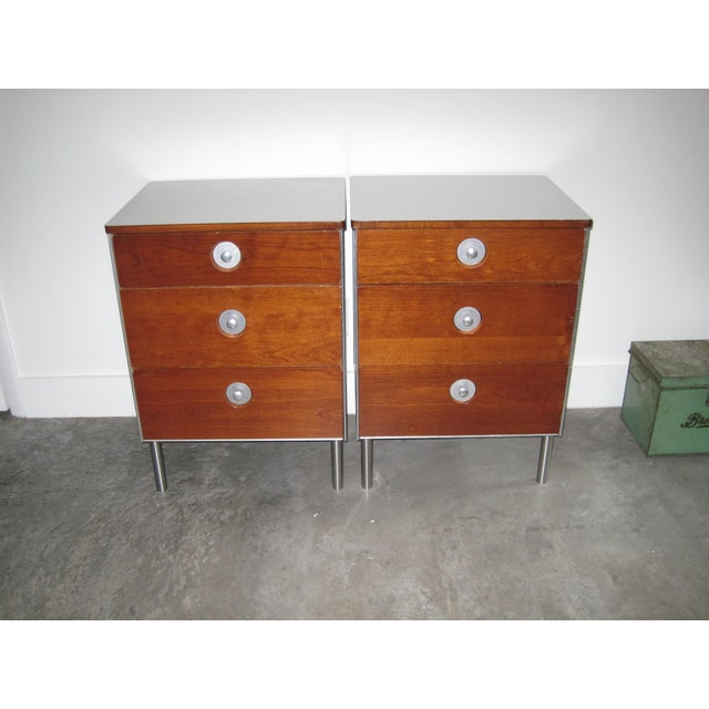 Image of Vintage Hill-Rom End Tables or Office Cabinets - 2