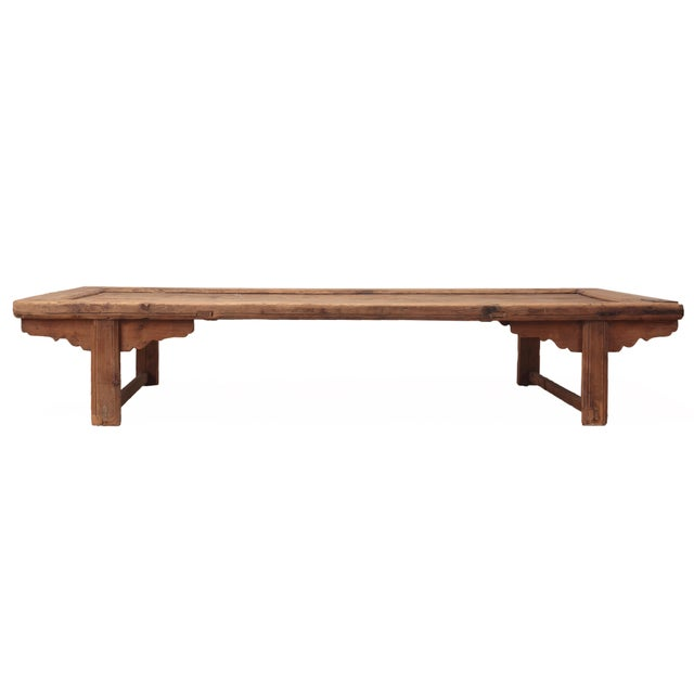 Wilson Antique White Coffee Table: Antique Sarreid LTD Chinese Pine Coffee Table