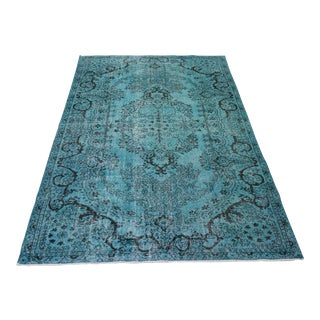 Oriental Overdyed Turkish Rug - 6′ × 10′
