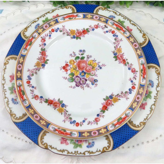 Vintage Mismatched Fine China, 5 Pc Place Setting - Image 4 of 10