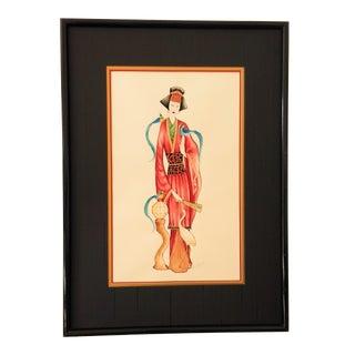 Vintage Signed Geisha Painting