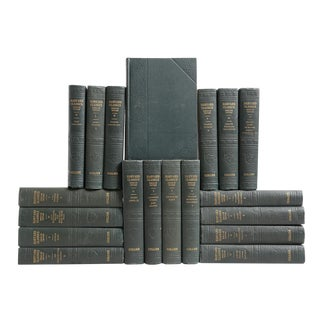 Forest Green Harvard Classic Books - Set of 20