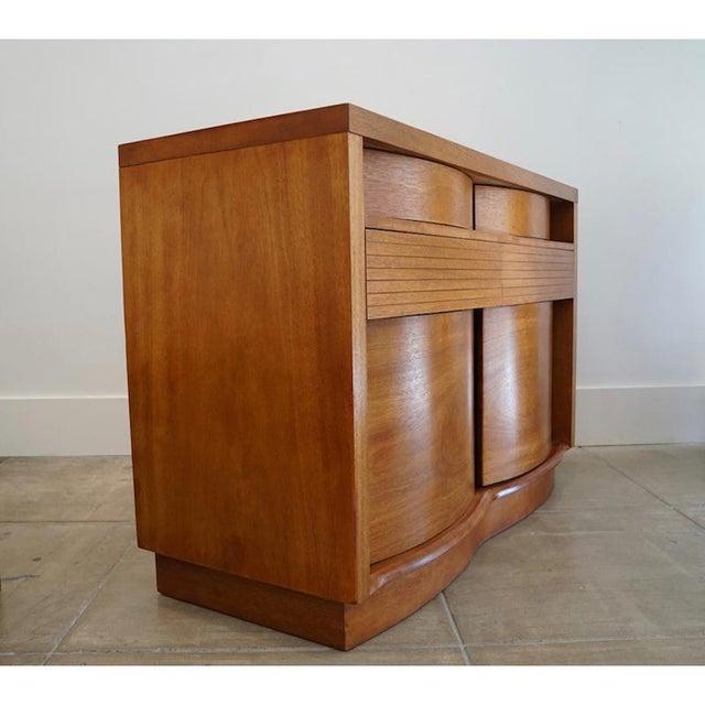 Teak Bow Front Cabinet - Image 3 of 7