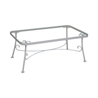 Woodard White Painted Iron Glass Top Coffee Table