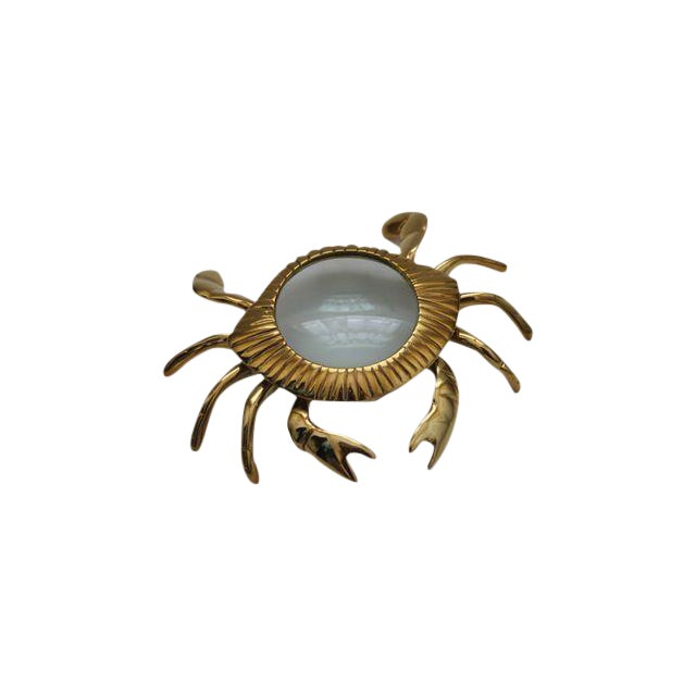 Brass Crab Magnifying Glass Paperweight - Image 1 of 3