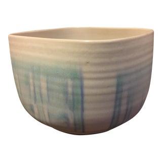 Ceramic Studio Planter in Aqua Wash