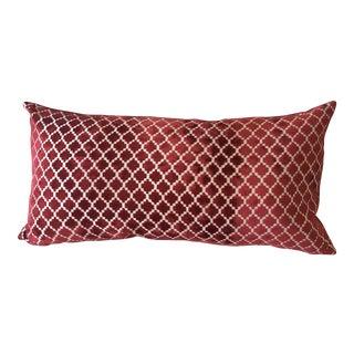 Red Moroccan Velvet Pillow