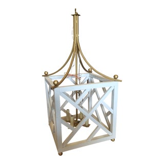 Chippendale White & Gold Pendant