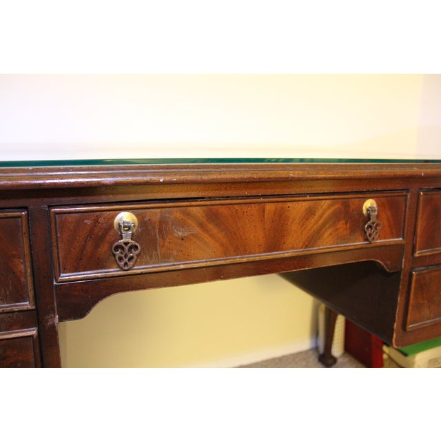 Antique Traditional Wool Writing Desk - Image 8 of 9