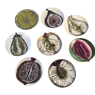 Piero Fornasetti Boxed Sezione DI Frutta 'Cut Fruit' Coasters, 1960s - Set of 8