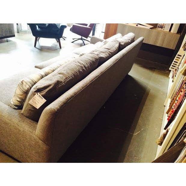 Huntington House Grey and Striped Sofa - Image 6 of 6