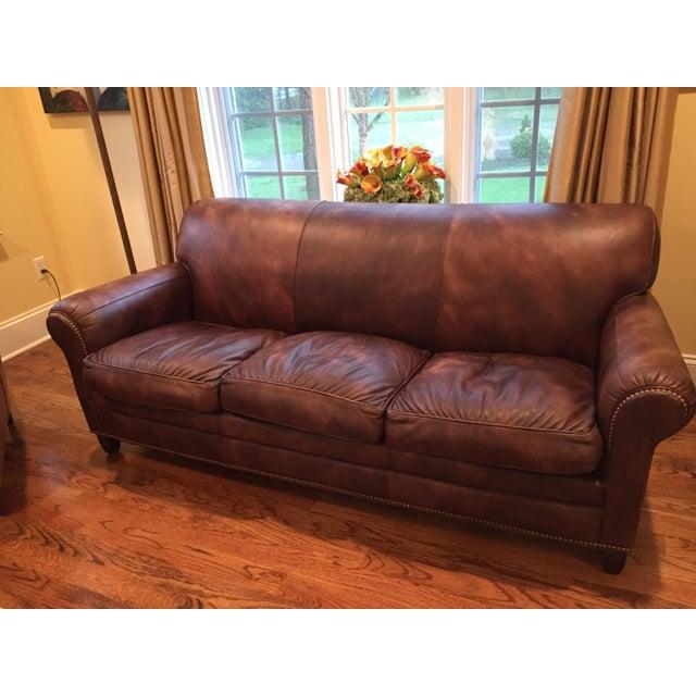 Hancock & Moore Leather Sofa - Image 2 of 6