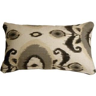 Pillow Decor - Bold Gray Ikat 12x20 Pillow