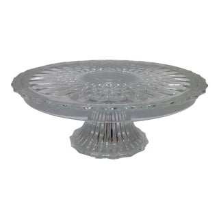 Vintage Clear Crystal Cake Stand