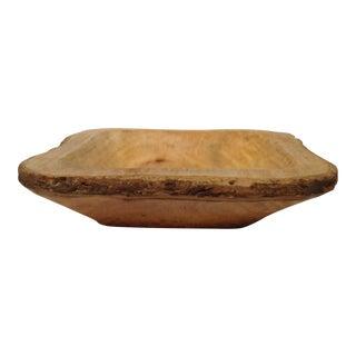 Bark Edge Wooden Bowl