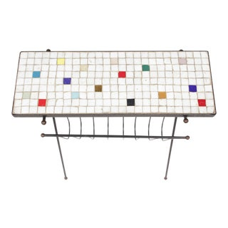 1950s Retro Marble Tile Magazine Rack