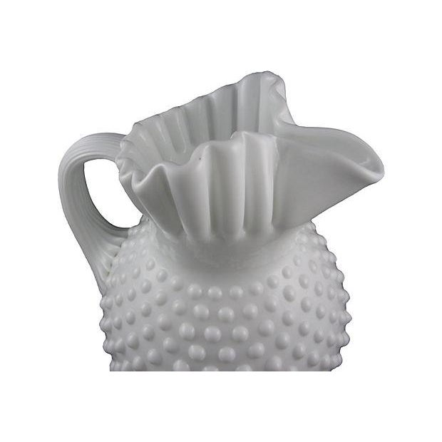 Fenton Hobnail Milk Glass Beverage Service - 5 - Image 4 of 6