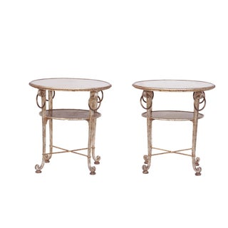 Gilt Iron Tables - Pair